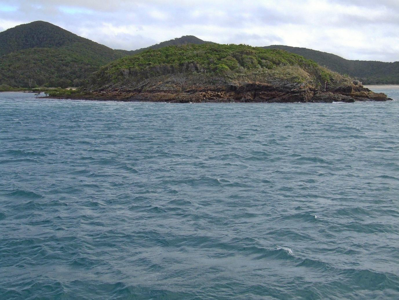 PLAIN TO SEE: The high tide mark at Bachelor Island (Swain Reefs) that does not get covered by the tide these days.