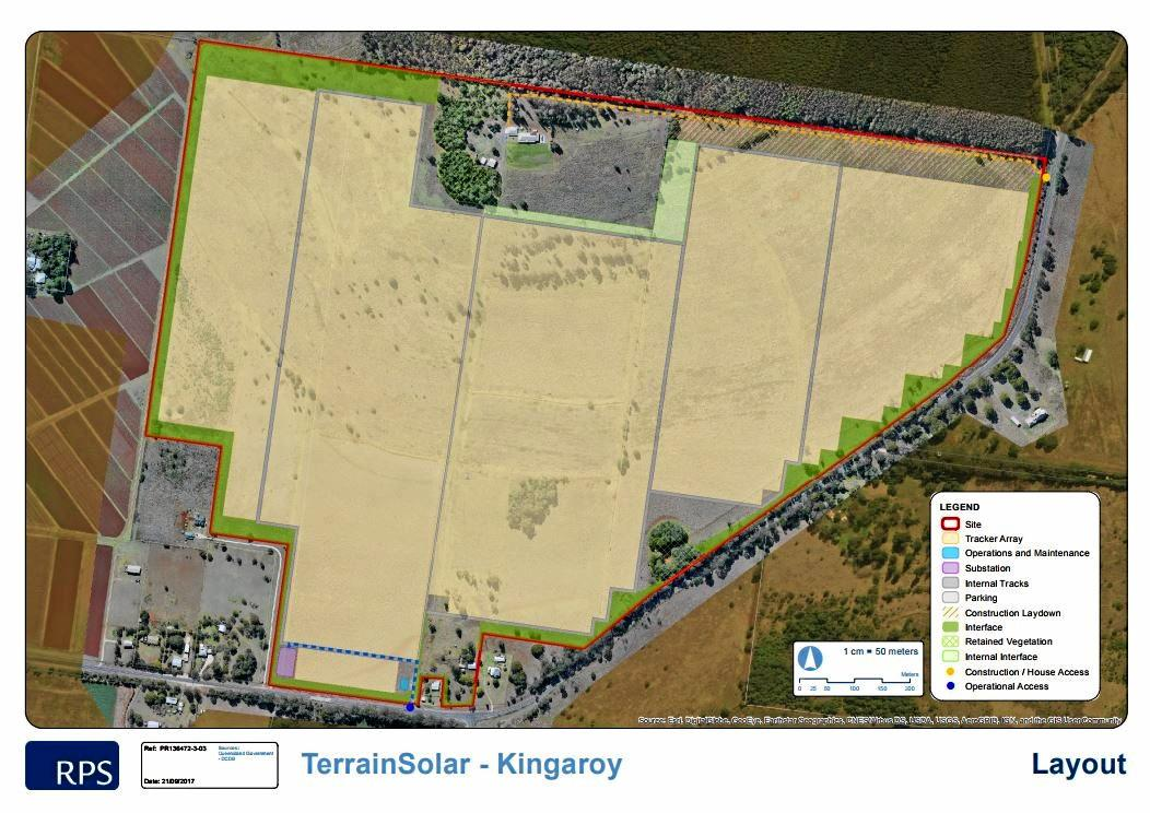 UNDER CONSTRUCTION: The plans for the proposed Kingaroy Solar Farm.