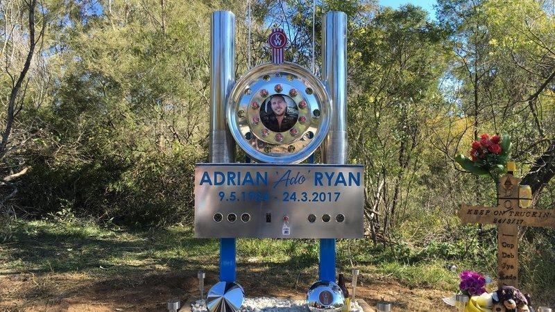 Adrian 'Ado' Ryan's memorial on Picton Road at Allens Creek.