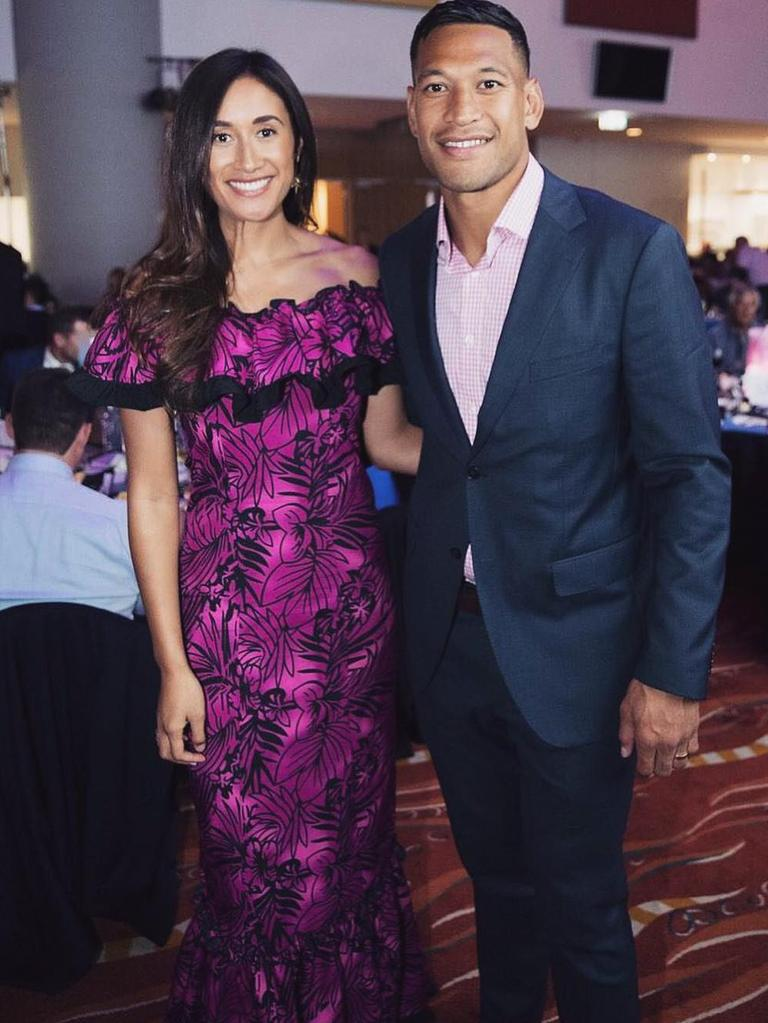Maria and Israel Folau. Picture: Instagram
