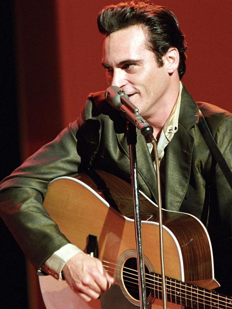 Joaquin Phoenix in a scene from the music biopic.