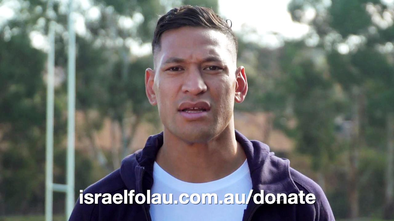 Folau asked supporters for donations to fund his legal fees in a video.