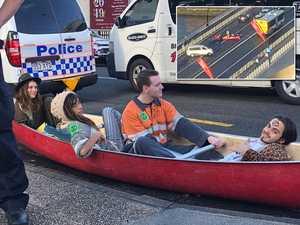 Canoe protesters warn: 'Rebellion Day Brisbane' coming
