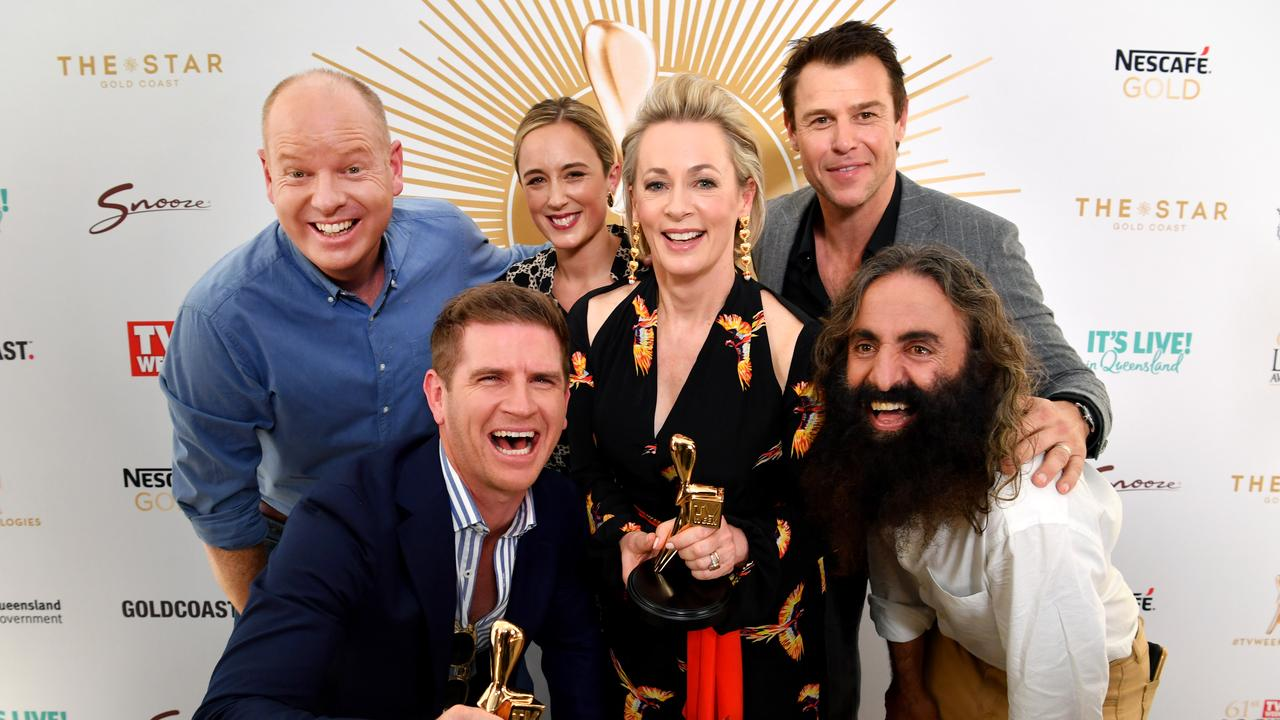 2019 Gold Logie nominees: Tom Gleeson, Sam Mac, Eve Morey, Amanda Keller, Rodger Corser and Costa Georgiadis. Missing is Waleed Aly.