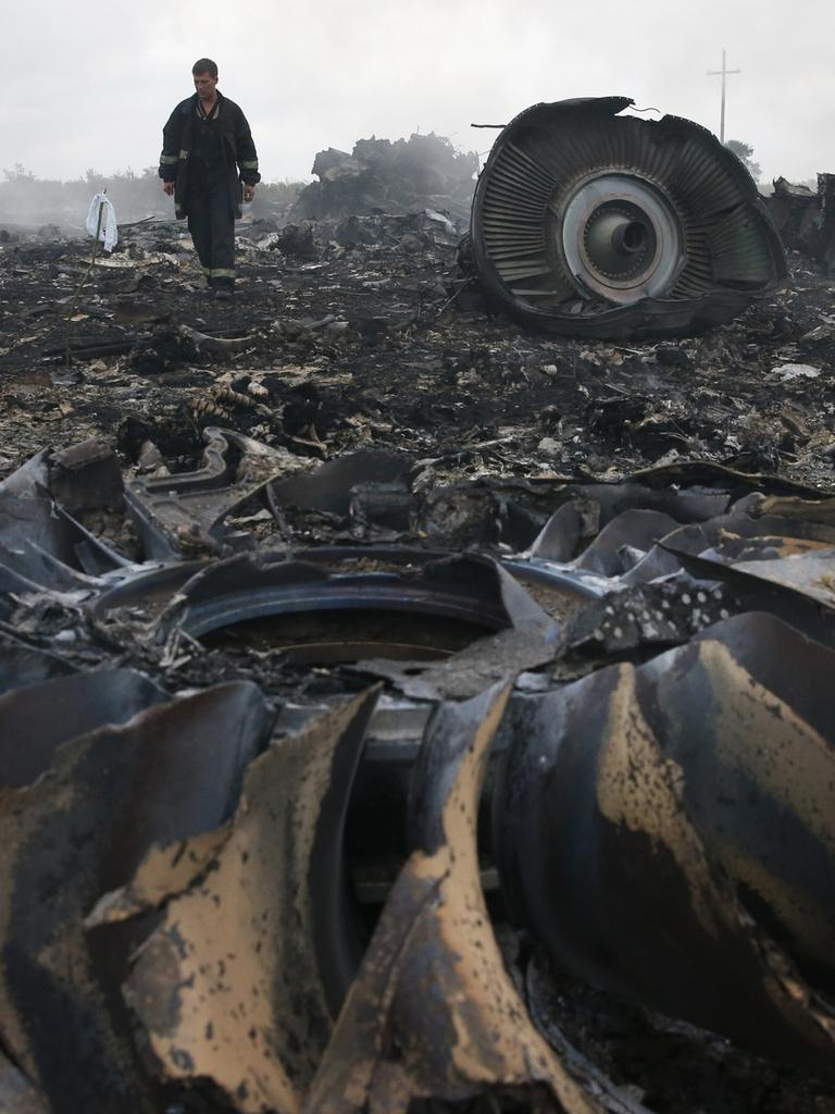 The site of the Malaysia Airlines Boeing 777 plane crash of 2014. Picture: Reuters