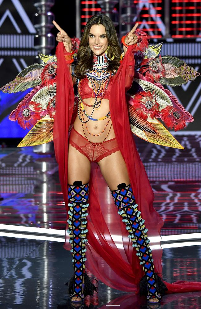 Victoria's Secret Angel Alessandra Ambrosio nabbed second spot on the list. Picture: Frazer Harrison/Getty Images for Victoria's Secret)
