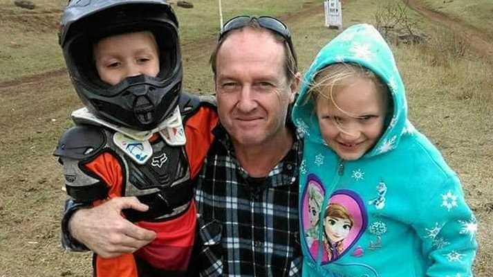 David Routledge with his grandchildren.