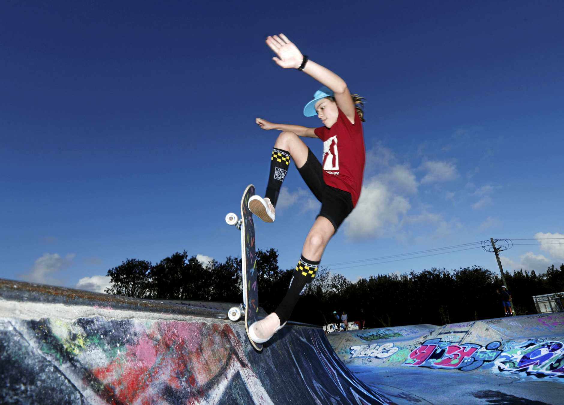 Tweed Coast skater girl Indi is a skating legend and about to embark on a USA trip to meet her sponsors and compete.