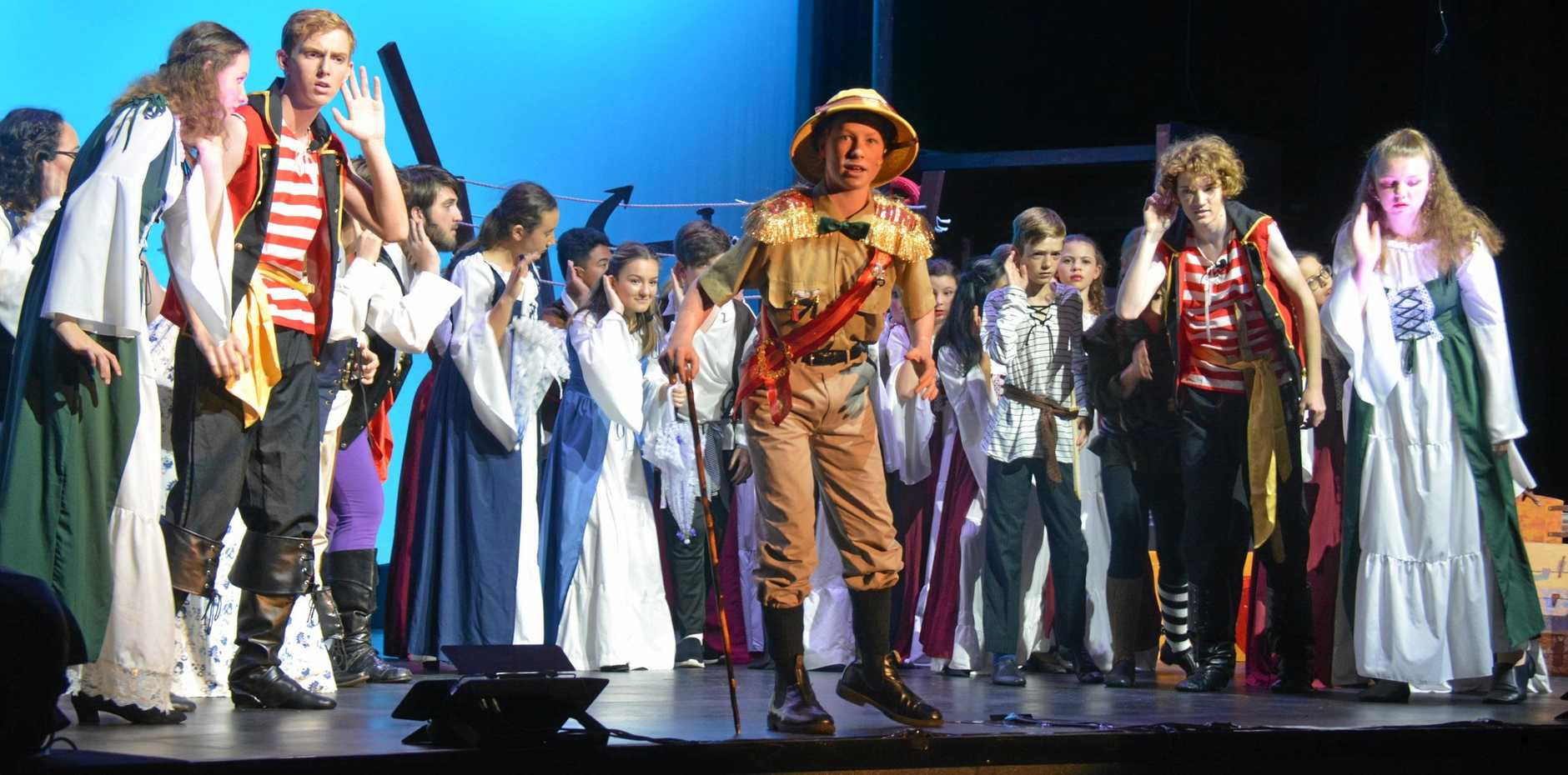 Major General Stanley (Timothy Blanch) during the Kingaroy State High School 2019 musical production Pirates of Penzance.
