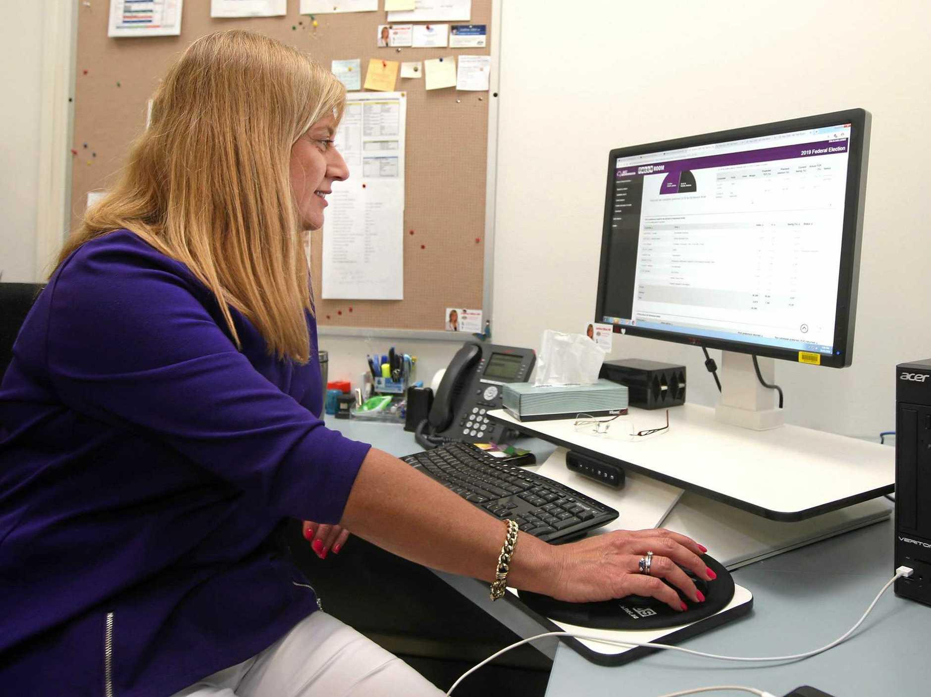 Justine Elliot working in her Richmond office.
