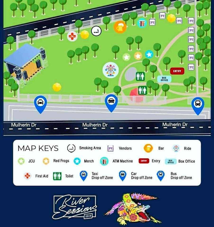 Festival map of Riversessions 2019.
