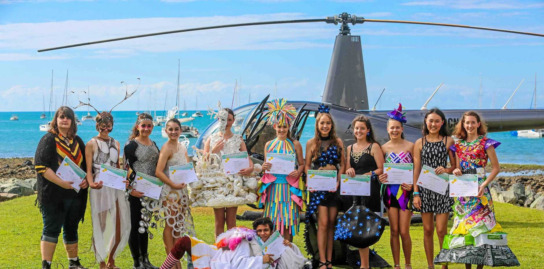 MAKING FULL USE: Creativity abounds at the Wilmar Sugar Wearable Art Awards, one of the major highlights of the Great Barrier Reef Festival. Entries are now open for the Wearable Art Awards and Recyclable Regatta event.