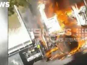 Two dead in fiery highway crash