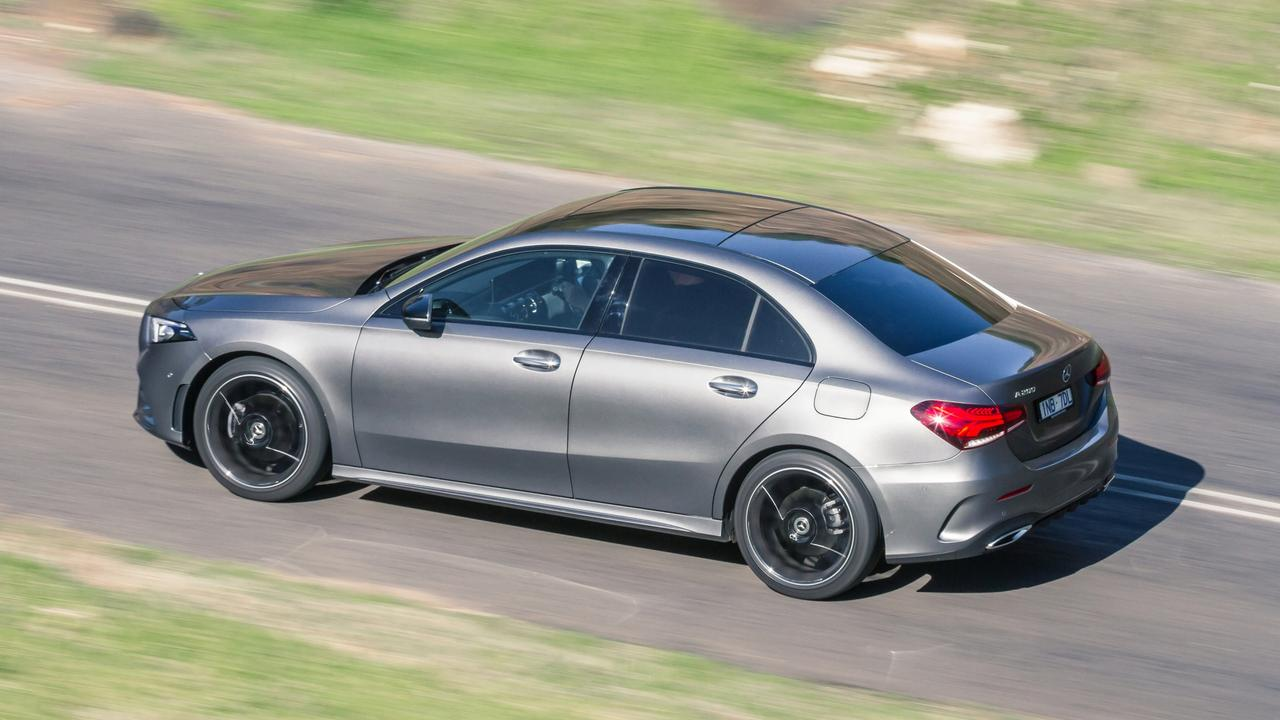 The A-Class sedan costs $2000 more than the hatch version.