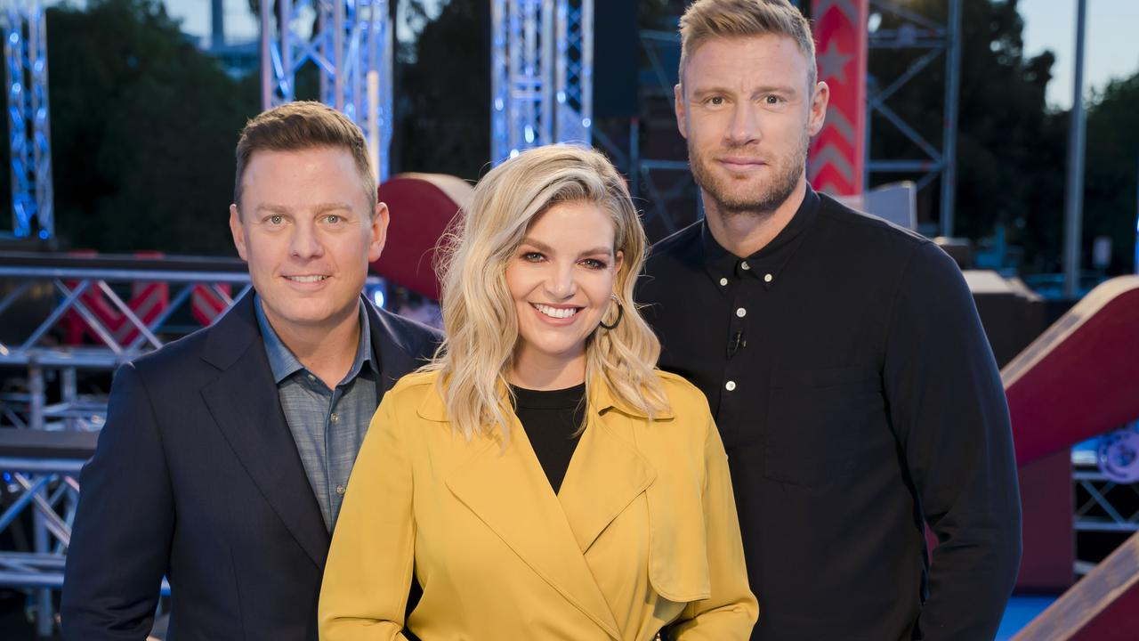 Australian Ninja Warrior is hosted by Ben Fordham, Rebecca Maddern and Freddie Flintoff.