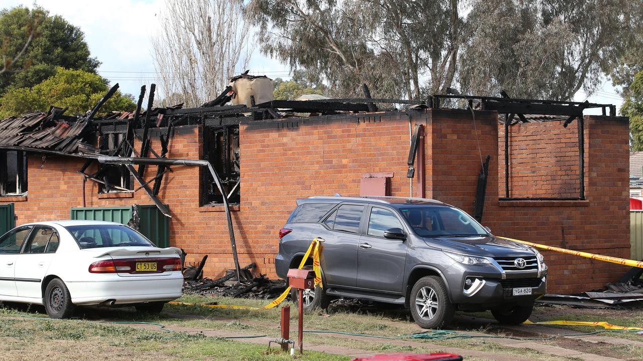 The fire in Singleton where three children died. Picture: Peter Lorimer.