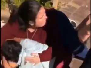 Hero teacher acts as human shield in schoolyard brawl