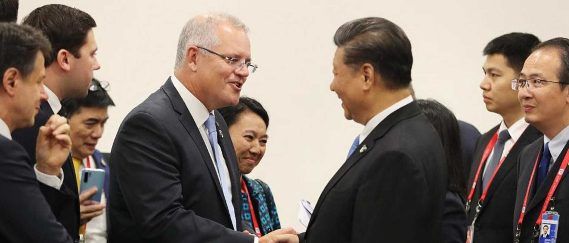 The PM with President Xi Jinping at the G20 earlier this year