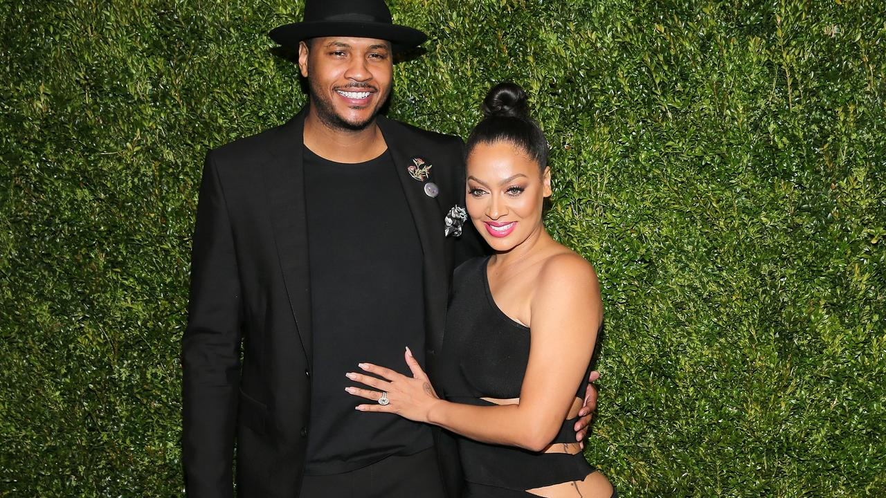 Carmelo Anthony is feeling the heat from his wife, La La.