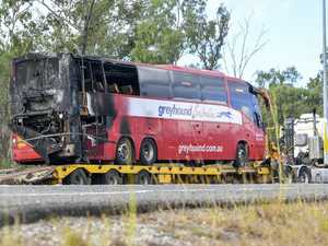 UPDATE: Photos show passengers' lucky escape from bus fire