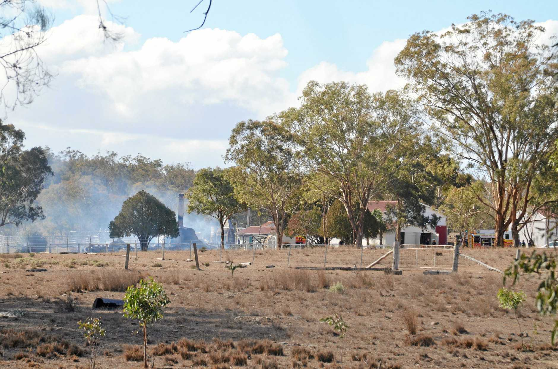 Flames engulfed Oaklands Homestead at Karara. Crews were called to the scene on Toowoomba-Karara Rd about 11.30am.