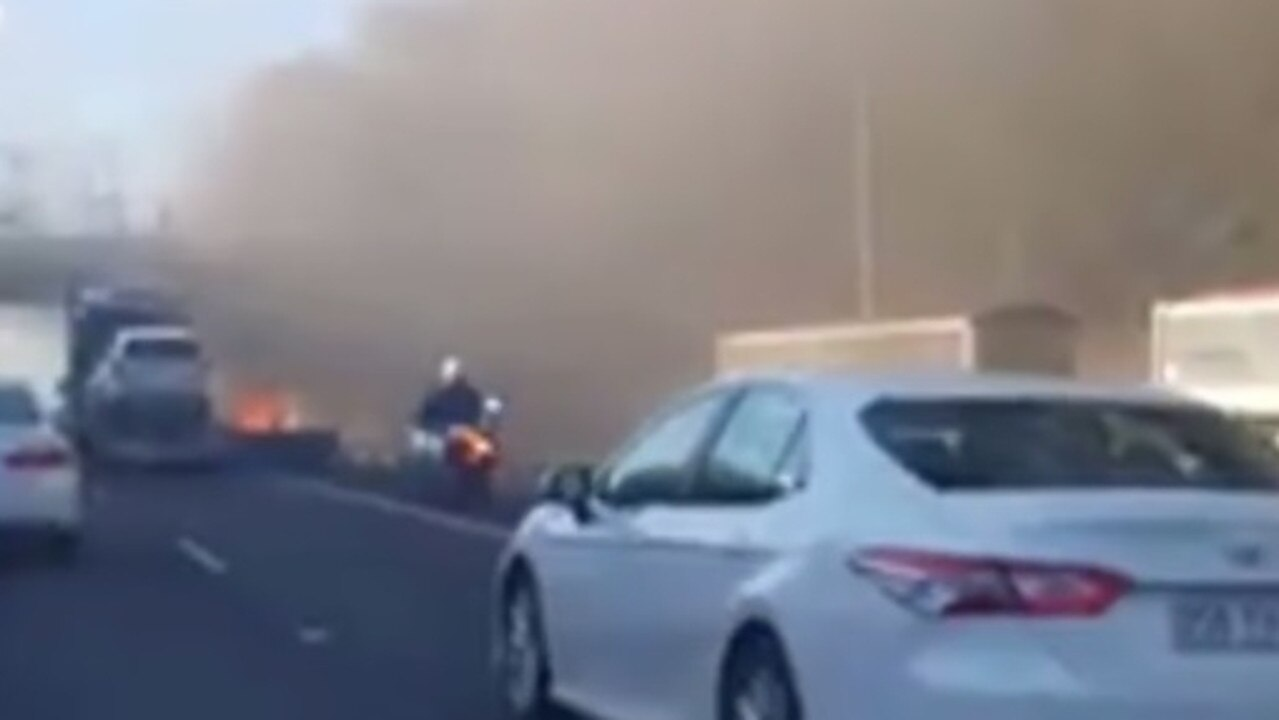 Police said the two people were incinerated inside their vehicles. Picture: Supplied