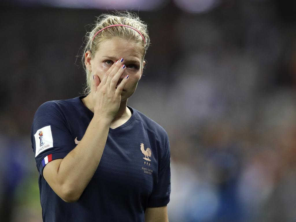 France's Eugenie Le Sommer. (AP Photo/Alessandra Tarantino)