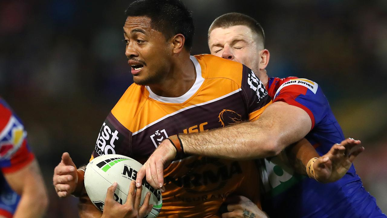 Anthony Milford in an unfamiliar position. Image: Tony Feder/Getty Images