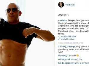 Vin Diesel Posts Shirtless Pic to Shut Up 'Dad Bod' Shaming