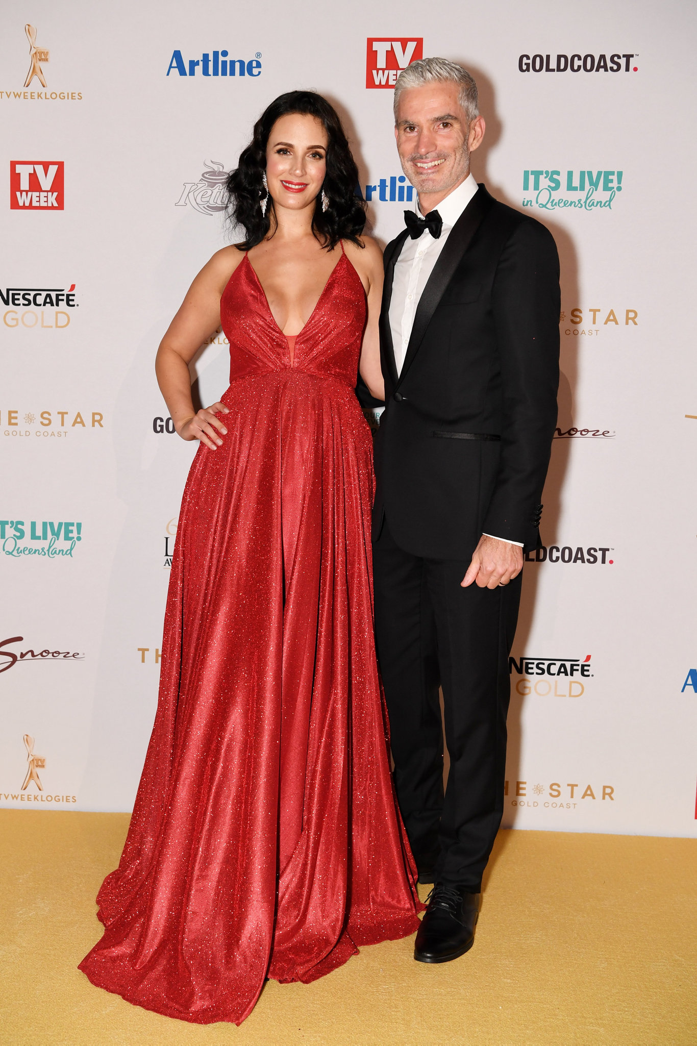 Lucy Zelic (left) and Craig Foster arrive at the 2019 Logie Awards at The Star Casino on the Gold Coast, Sunday, June 30, 2019.
