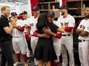 Meghan in surprise visit to baseball game