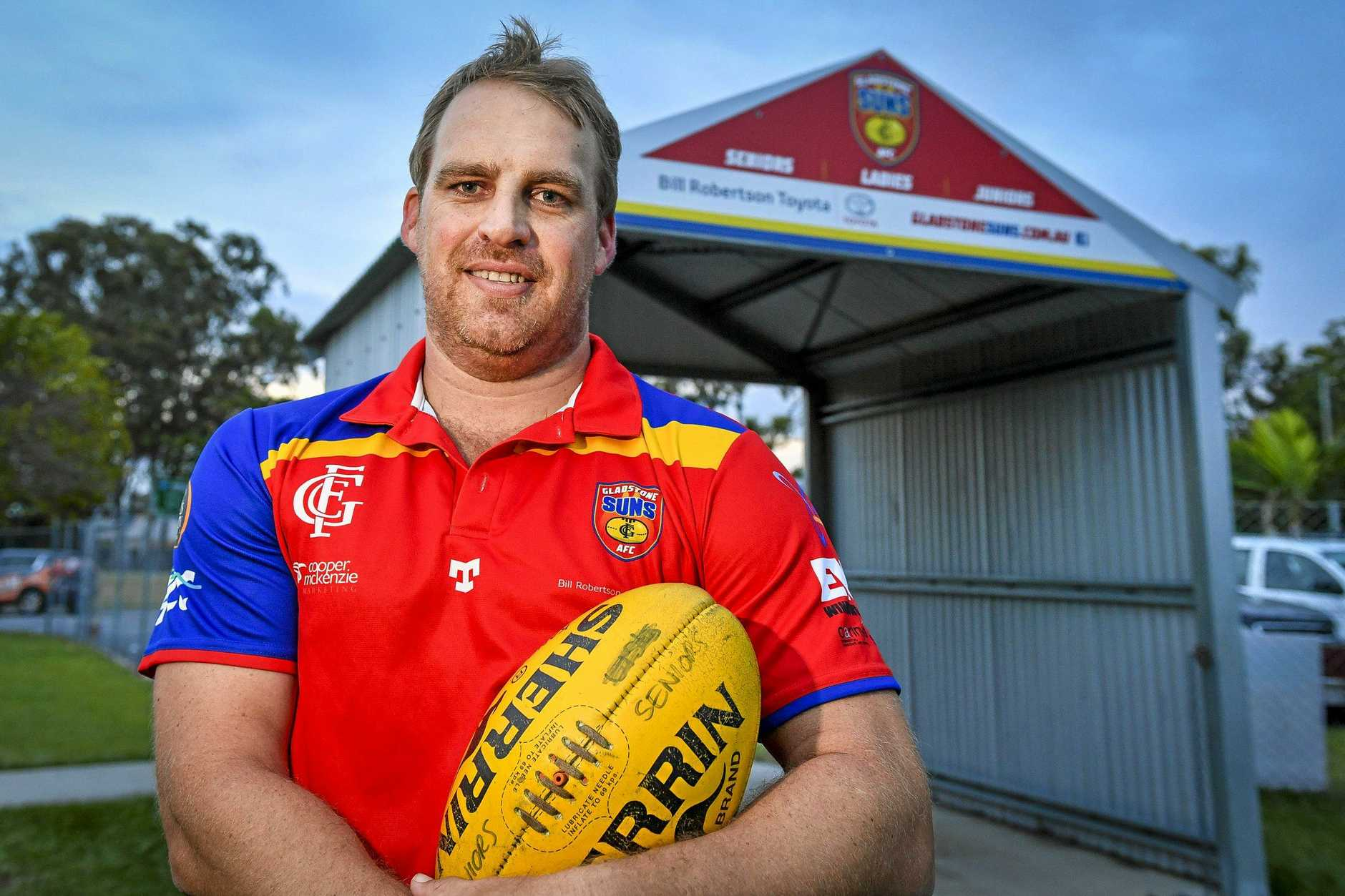 NEW ERA: Ricky McClure will be the head coach of the Gladstone Suns A-grade side. He will also play a key role in defence.