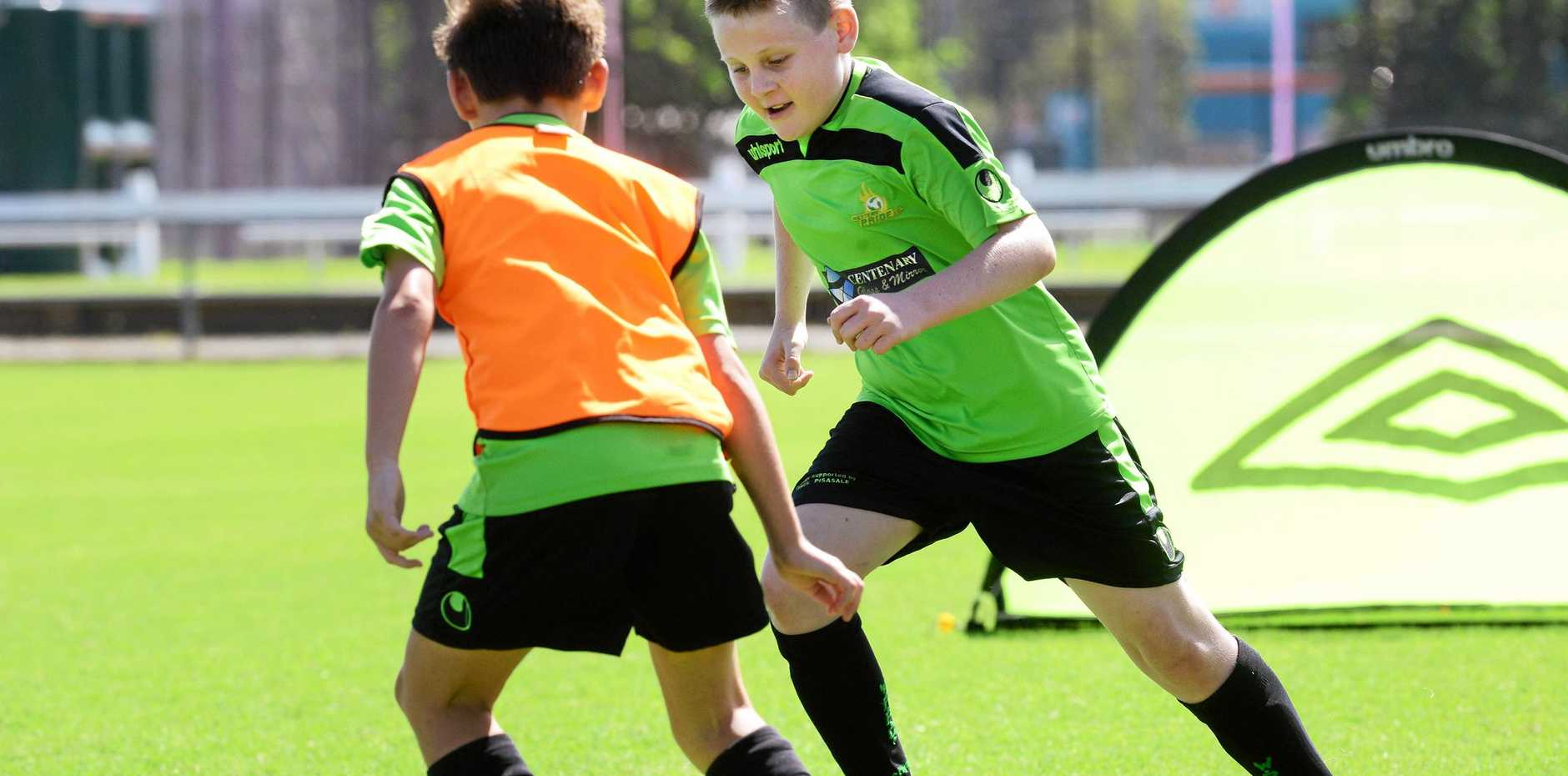 Soccer clinics are a great way to enjoy the sun these school holidays.