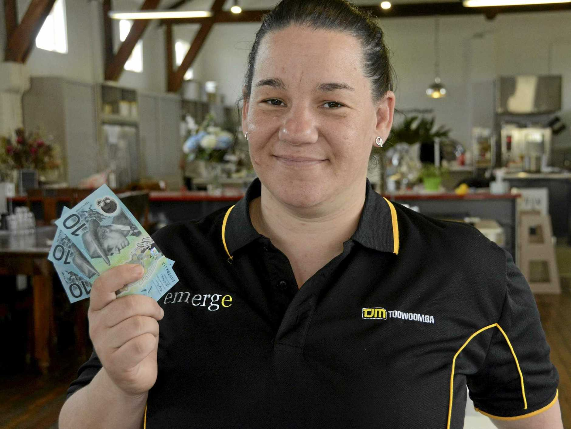 GENEROUS: Emerge Cafe's Jen Shaw said a homeless man's amazing donation of $30, all of his money, to her disadvantaged youth support organisation was a reminder of humanity's goodness.