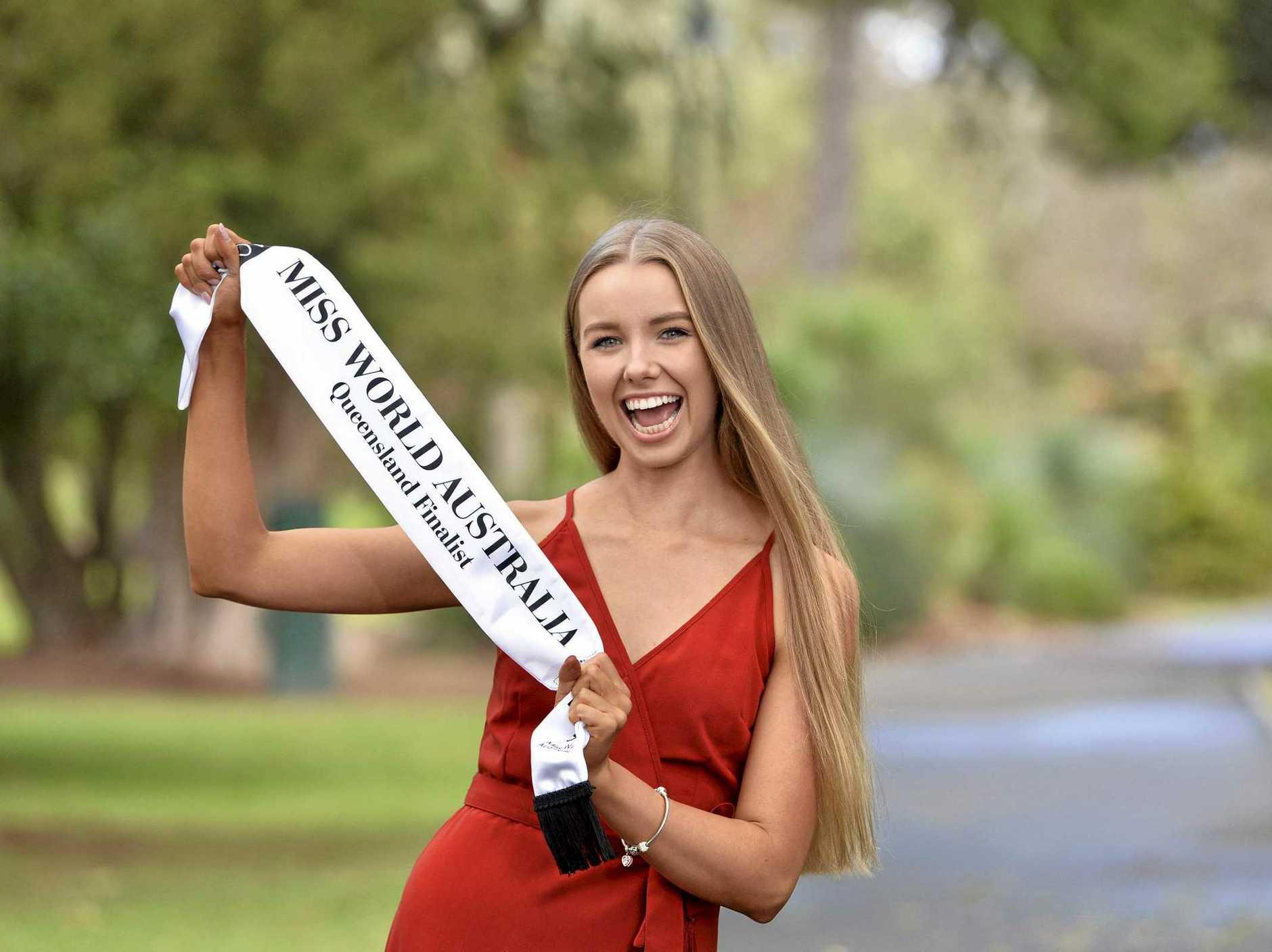 GOING GLOBAL: Oakey raised Mia Cherry is a Miss World Australia Queensland finalist.