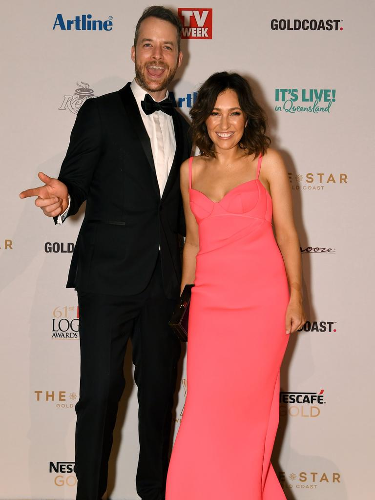Hamish (and Zoe Blake arrive at the Logies. Picture: AAP