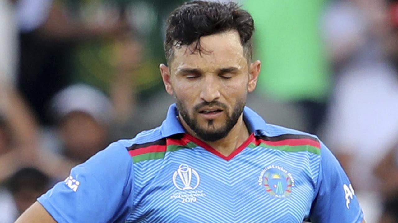 Afghanistan's captain Gulbadin Naib reacts after the illusive win goes begging.