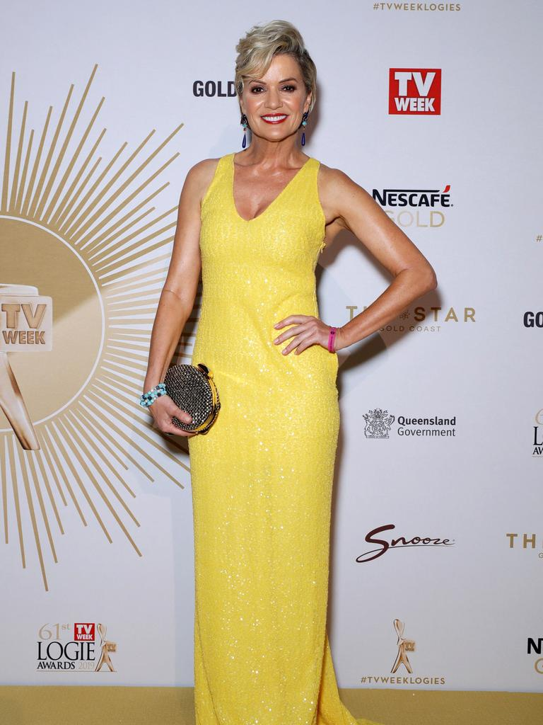 Sandra Sully arrives at the Logies. Picture: Matrix