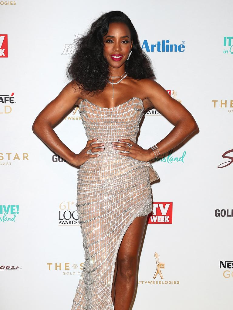 Kelly Rowland arrives at the Logies. Picture: Getty