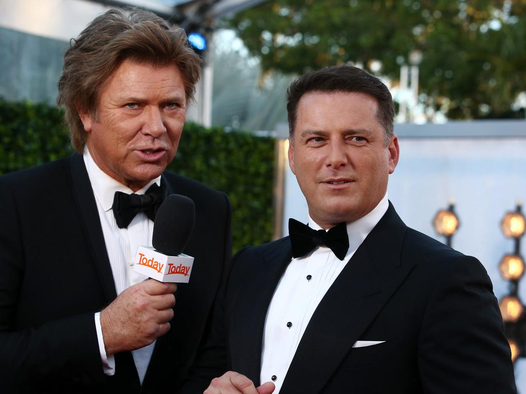 Richard Wilkins and Karl Stefanovic arrive. Picture: Matrix