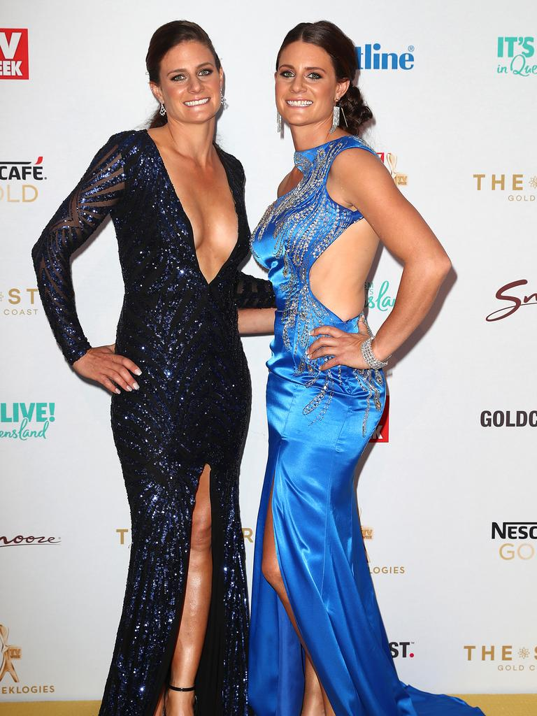 The Outback Girls from Nine's show Travel Guides arrive. Picture: Getty