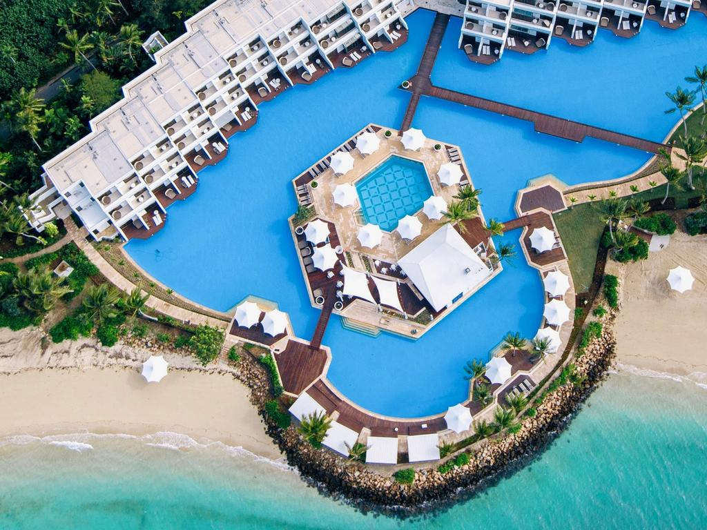 Haymand Island by Intercontinental resort from the air. Picture: Will Salkeld Photography