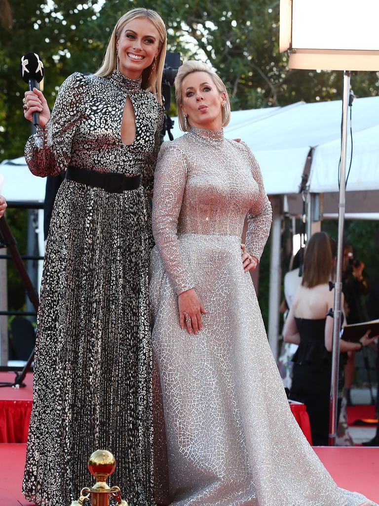 Sylvia Jeffreys and Amanda Keller. Picture: Matrix
