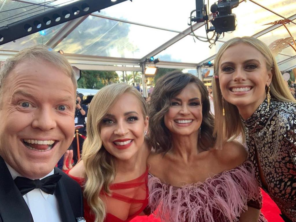 Pete Helliar, Carrie Bickmore, Lisa Wilkison and Sylvia Jeffreys. Picture: @Lisa Wilkinson/Instagram