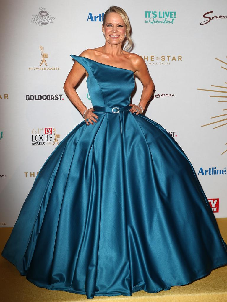 Shaynna Blaze arrives at the Logies. Picture: Getty