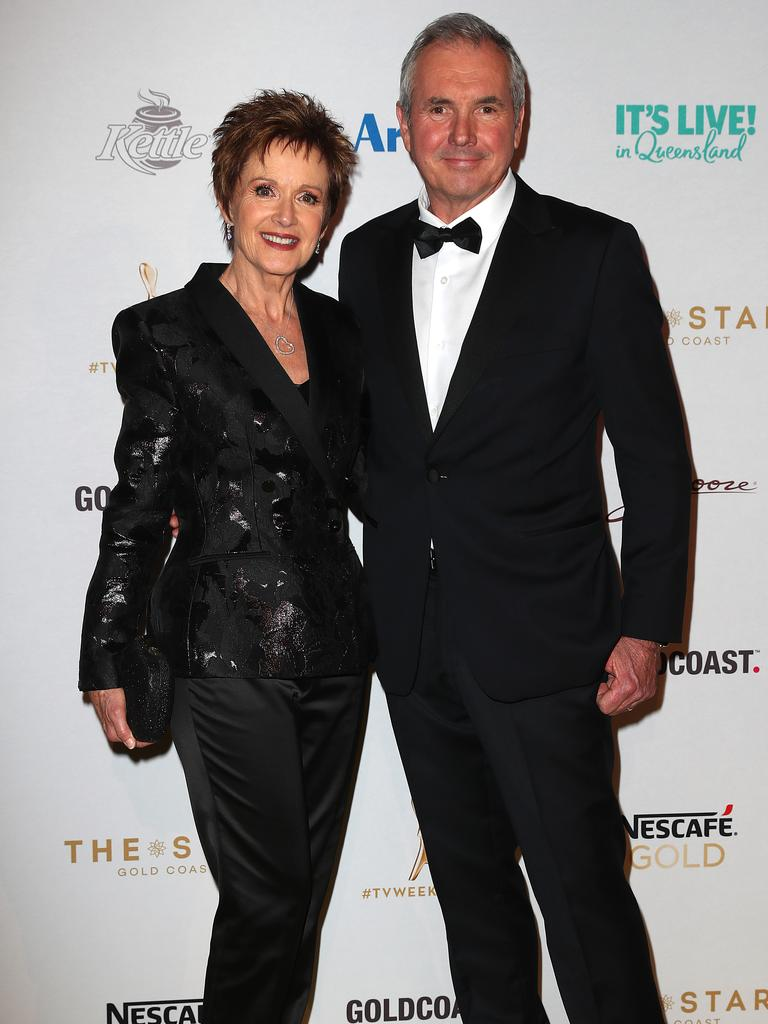 Jackie Woodburne and Alan Fletcher arrive. Picture: Getty