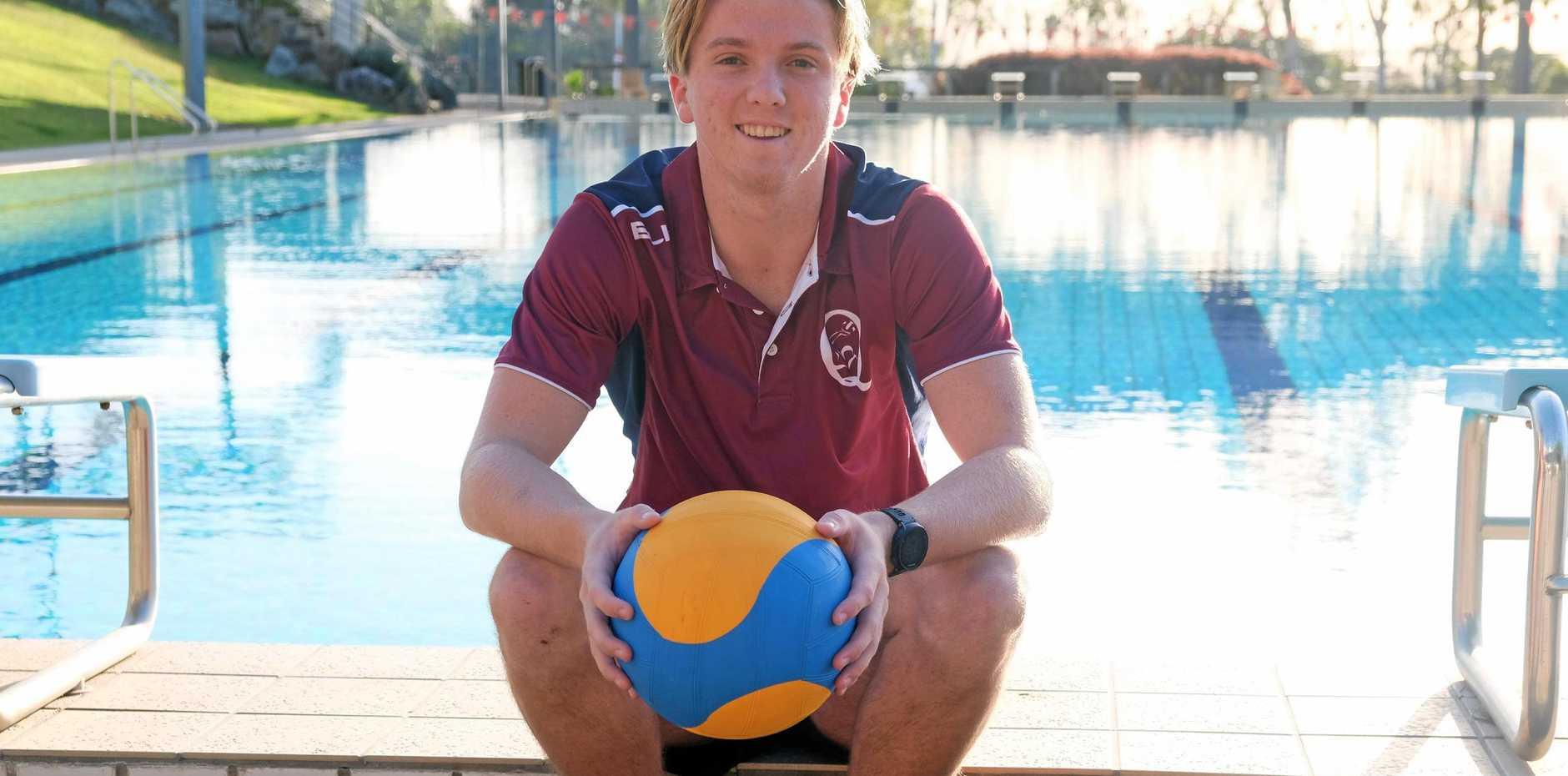 MAKING A SPLASH: RGS teen Sean McDonald made the U18 Qld water polo team.
