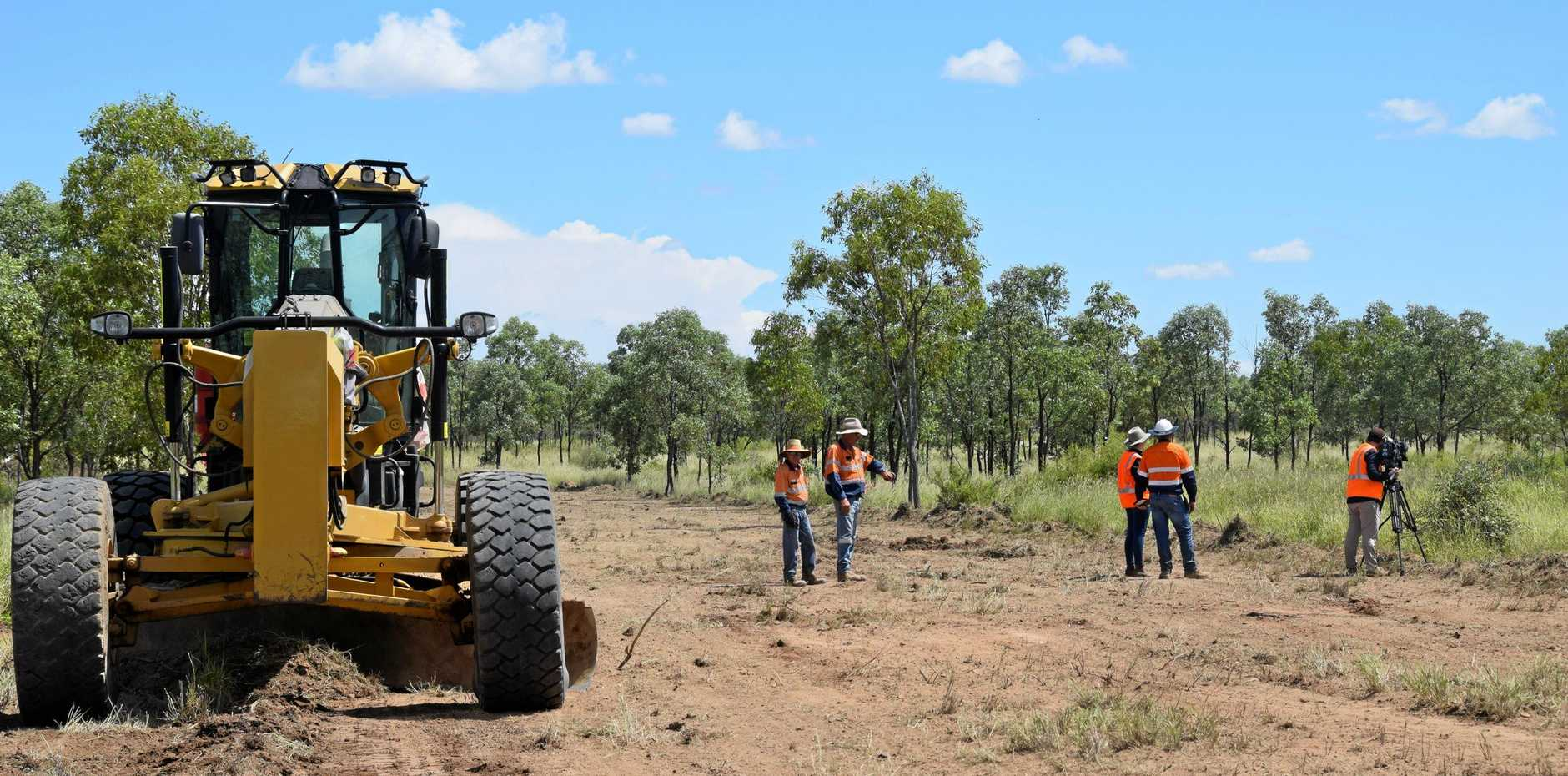 Work has begun on road construction at Adani Carmichael site