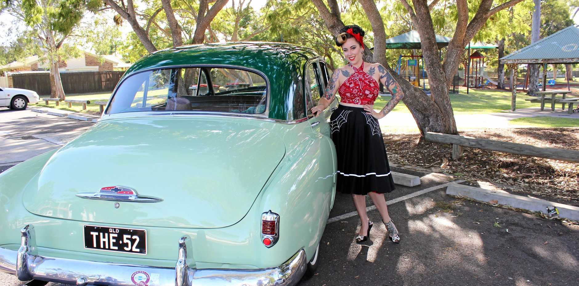 TIME FOR CHANGE: Pin-up Bettie Butcher is raising funds for Dolly's Dream to help put a stop to bullying.