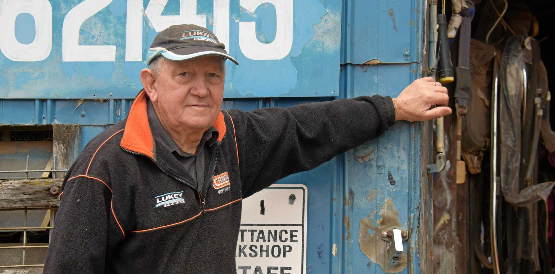 TIME FOR A BREAK: Len Hams and his wife, Zandrea from Hams Panel Beating Service are shutting the doors after 51 years.